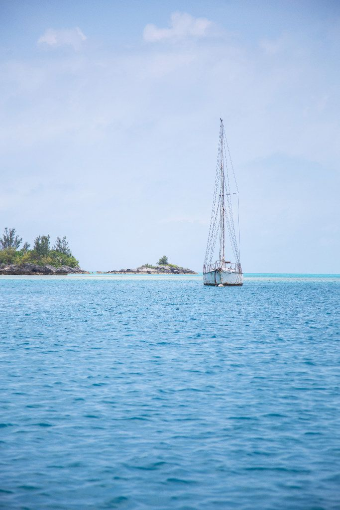 A yacht glides through the waters off Bermuda, which will host the 2017 America's Cup.