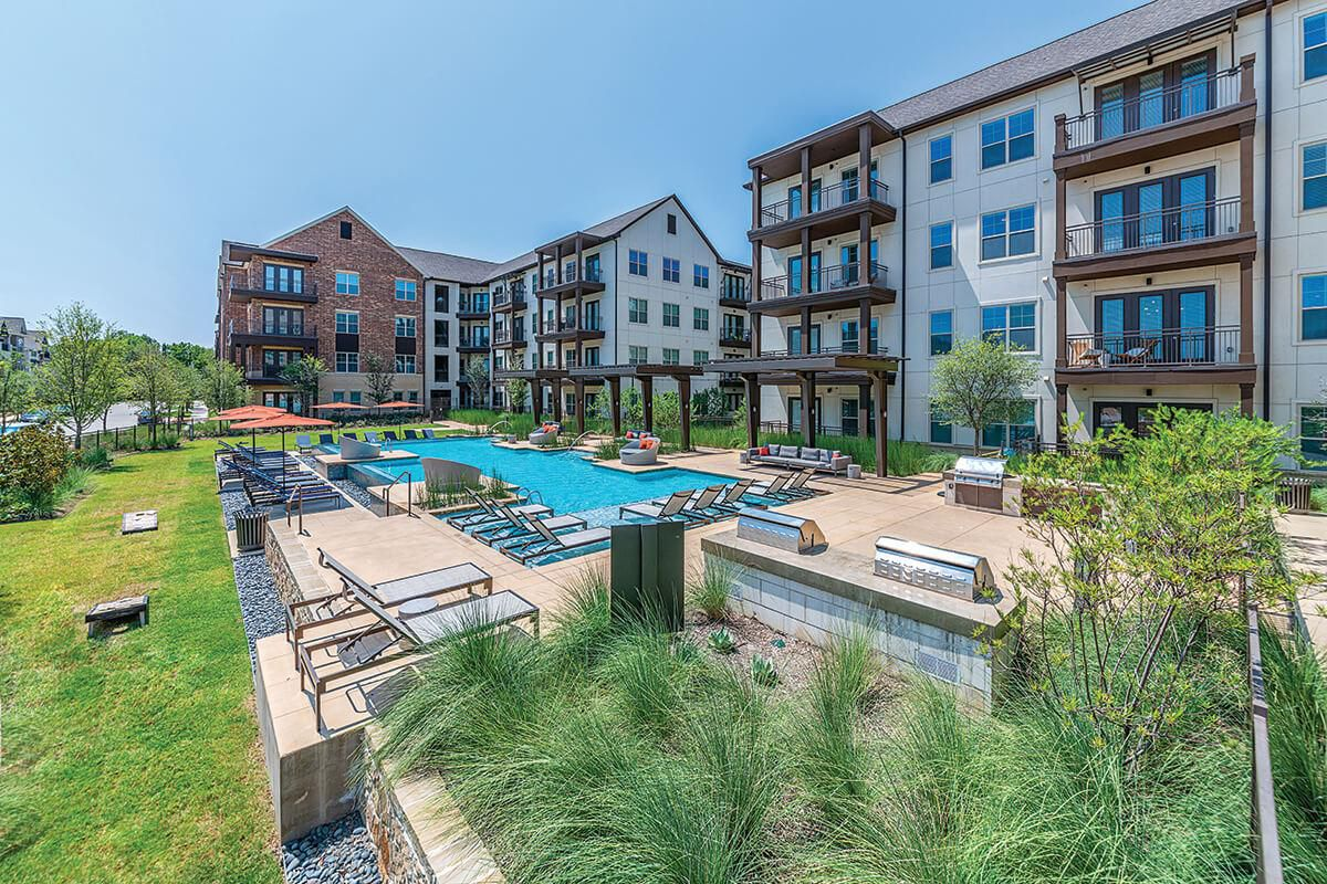 The Austin at Trinity Green apartments are on Singleton Boulevard in West Dallas and sold to Beachwold Residential.