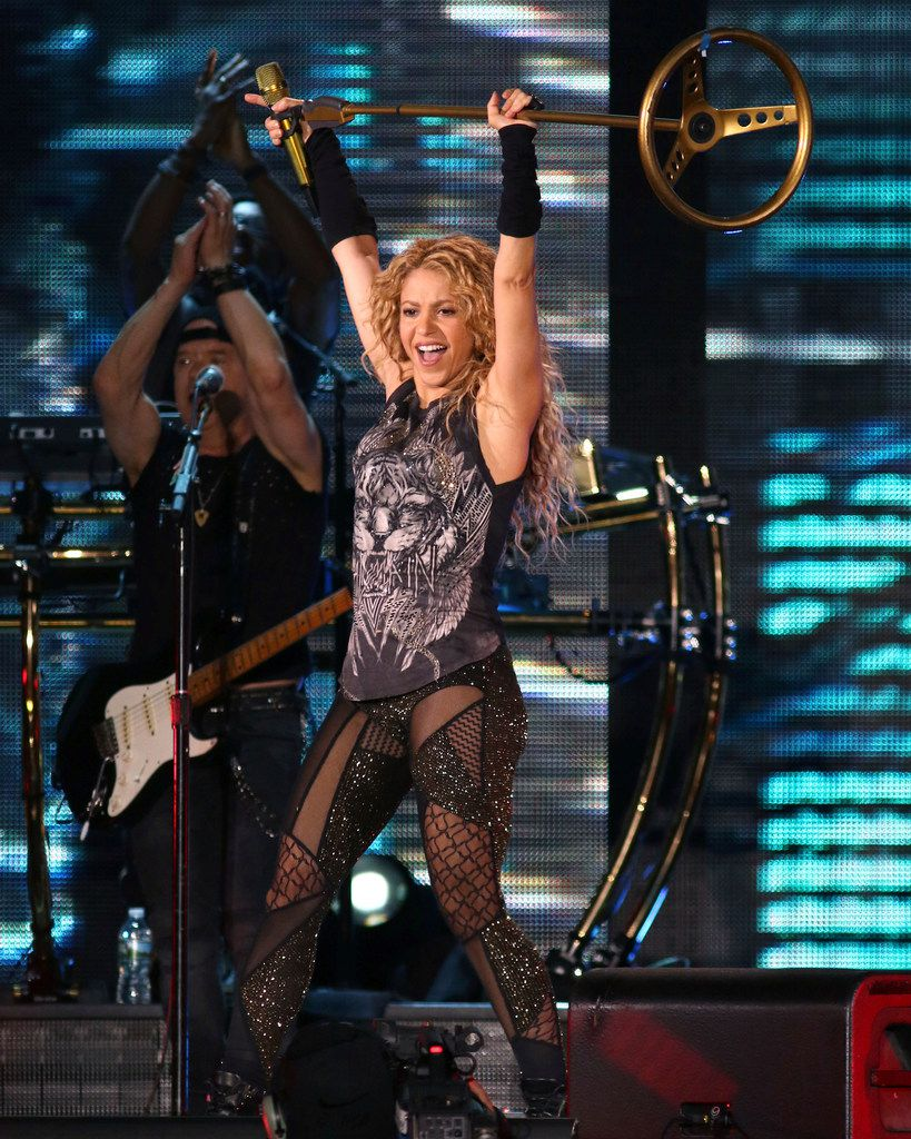 Shakira performs in concert at Madison Square Garden on Friday, Aug. 10, 2018, in New York. Photos were not allowed at the Aug. 21, 2018 show in Dallas.