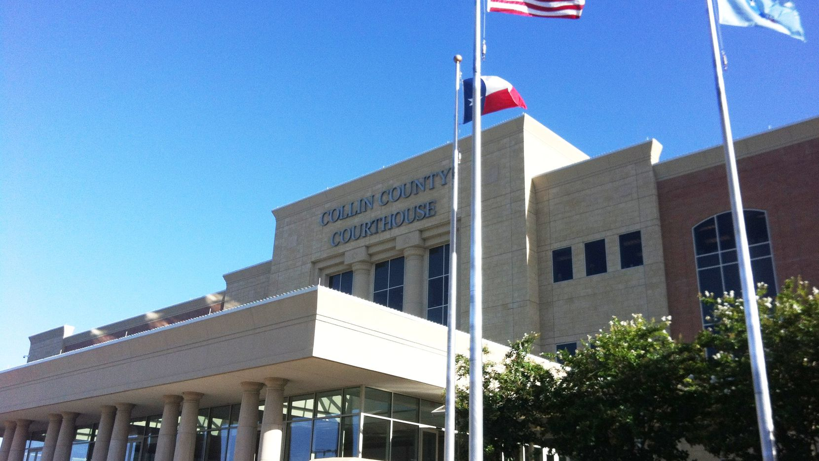 The trial is being held at the Collin County Courthouse in McKinney.