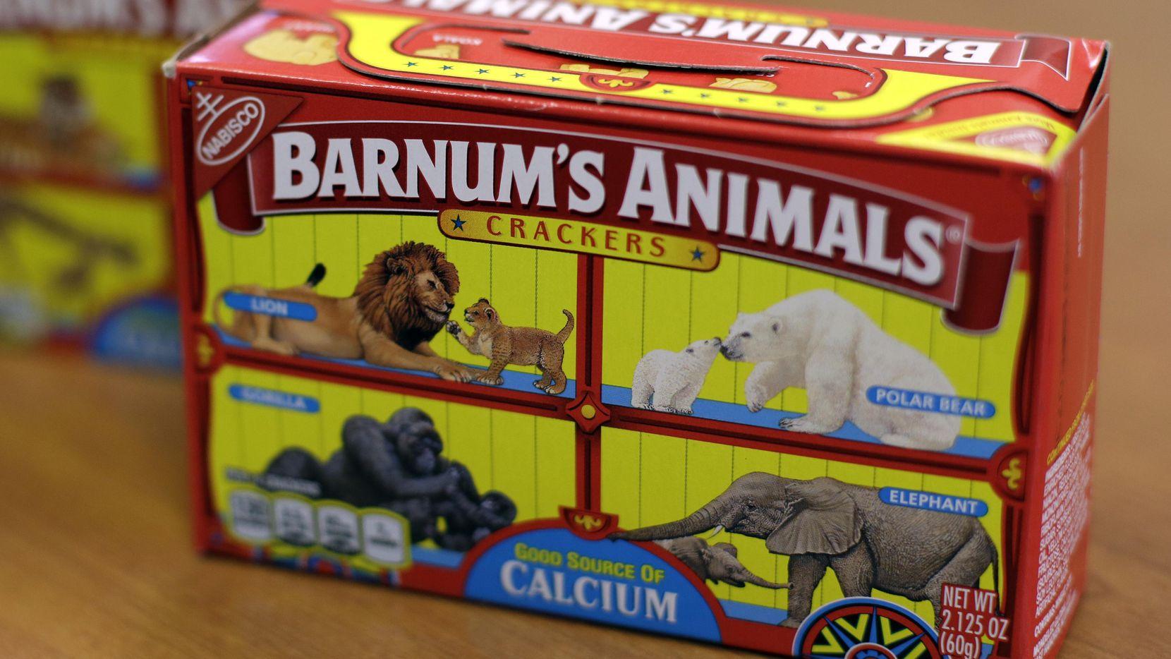 Una caja de las galletas de animalitos de Nabisco con el nuevo diseño.(AP)