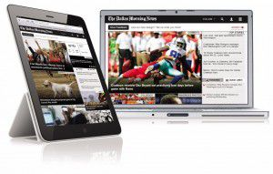 The News previously had a premium website whose layout and design differed from a free version for non-subscribers.
