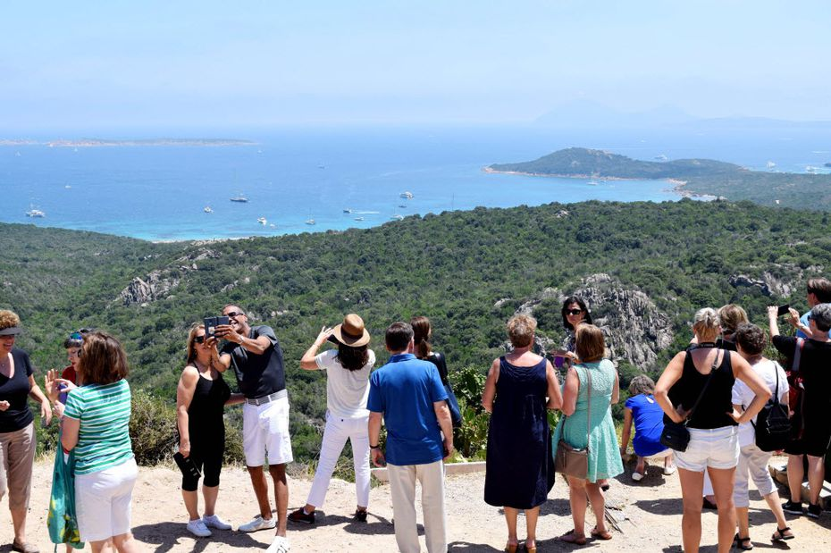 Tourists are drawn to the views of the Costa Smeralda along the northeast coast of the Italian island of Sardinia.