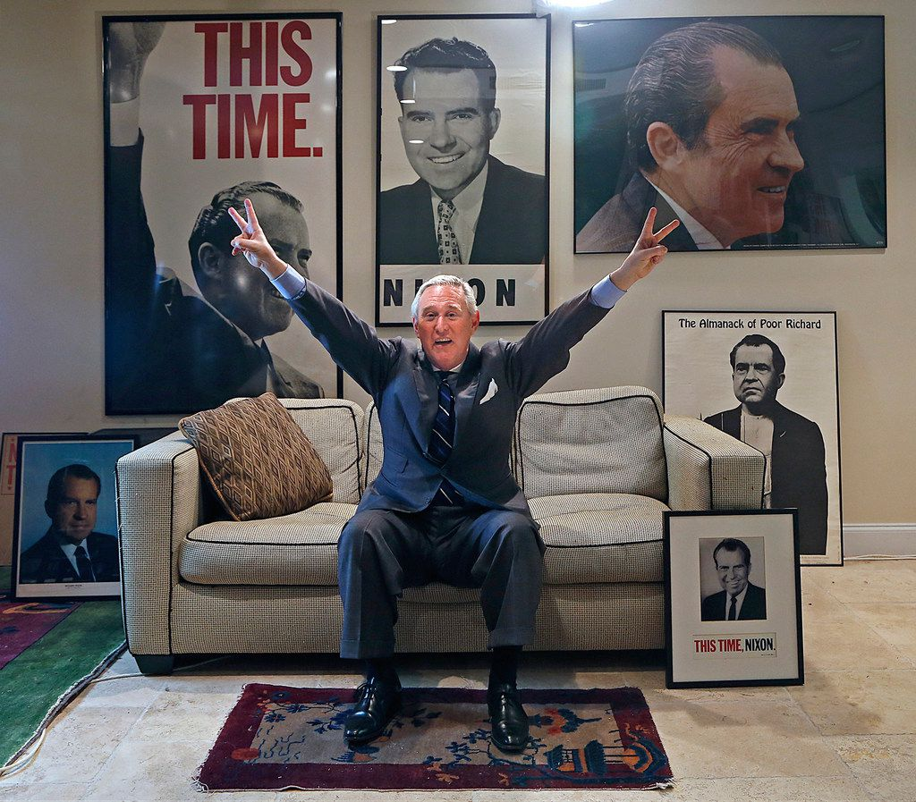 Roger Stone, pictured at his office in Fort Lauderdale, Fla., is a veteran Republican political operative. Stone privately inquired about damaging information on Hillary Clinton from WikiLeaks founder Julian Assange before the 2016 election, according to unearthed emails.