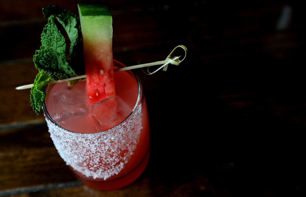 Mexican Sugar's Machete, with serrano-infused blanco tequila, watermelon, cucumber, lime and mint
