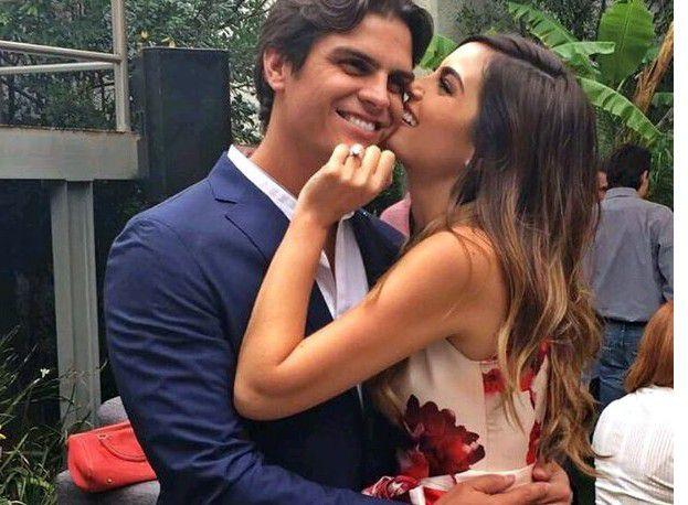 Ximena Navarrete (der.), ganadora de Miss Universo 2010, anunció en Instagram su compromiso con el empresario Juan Carlos Valladares (izq.)./AGENCIA REFORMA
