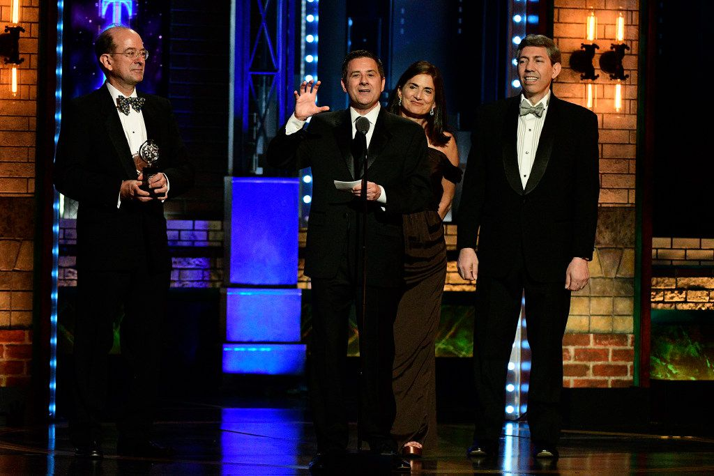 Kevin Moriarty and the Dallas Theater Center accept the regional theater Tony Award at Radio City Music Hall in New York City on June 11, 2017.
