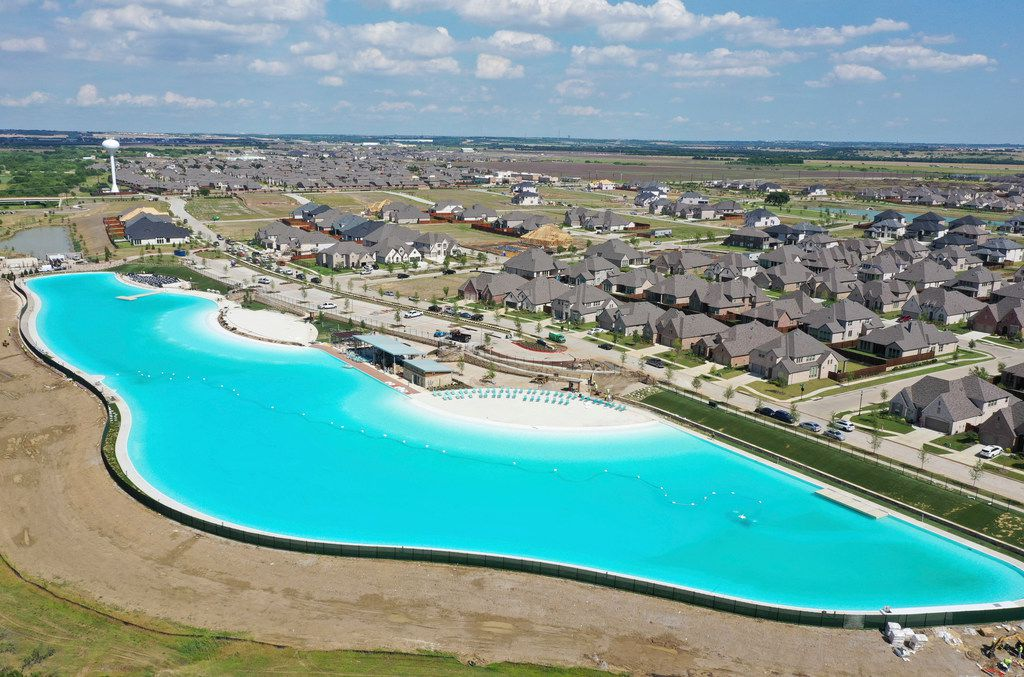 The Bailey family lives just across the street from the Crystal Lagoon, which is just about to open at Windsong Ranch in Prosper.