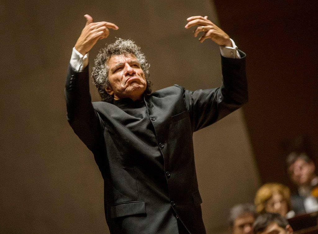 Guest conductor Giancarlo Guerrero during the Dallas Symphony Orchestra concert at Meyerson Symphony Center in Dallas on Oct. 20, 2018.