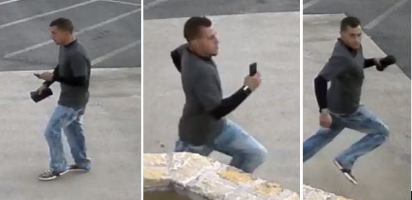 Images of the suspect who pulled a woman from her car in an attempt to steal it on Sept. 29, 2018.