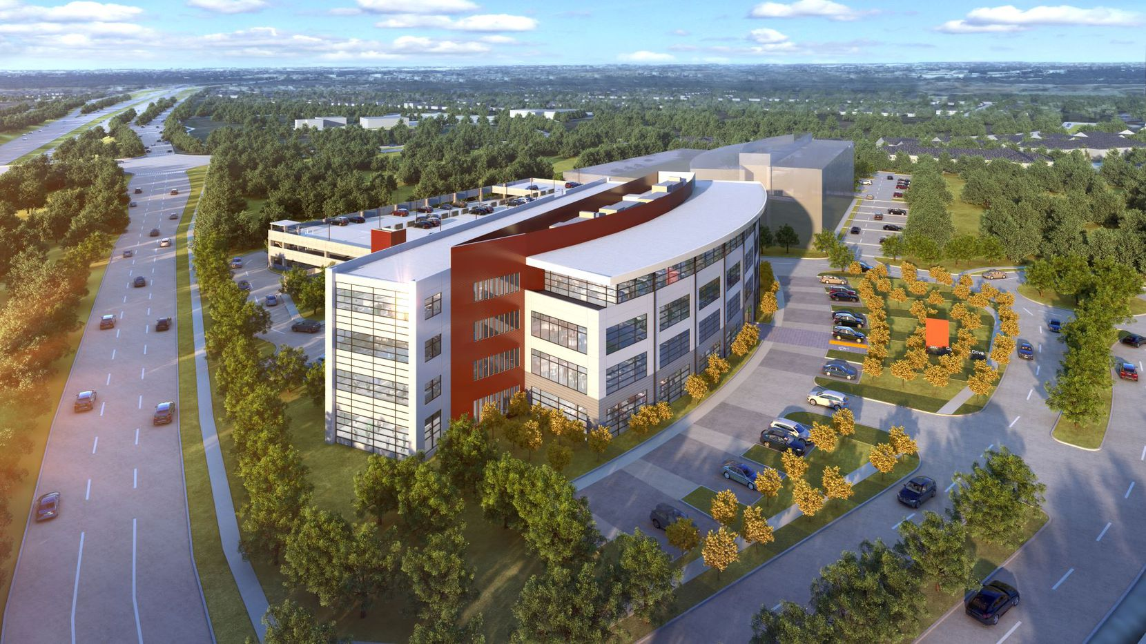 The new Crown Centre office project will open next year in Castle Hills.
