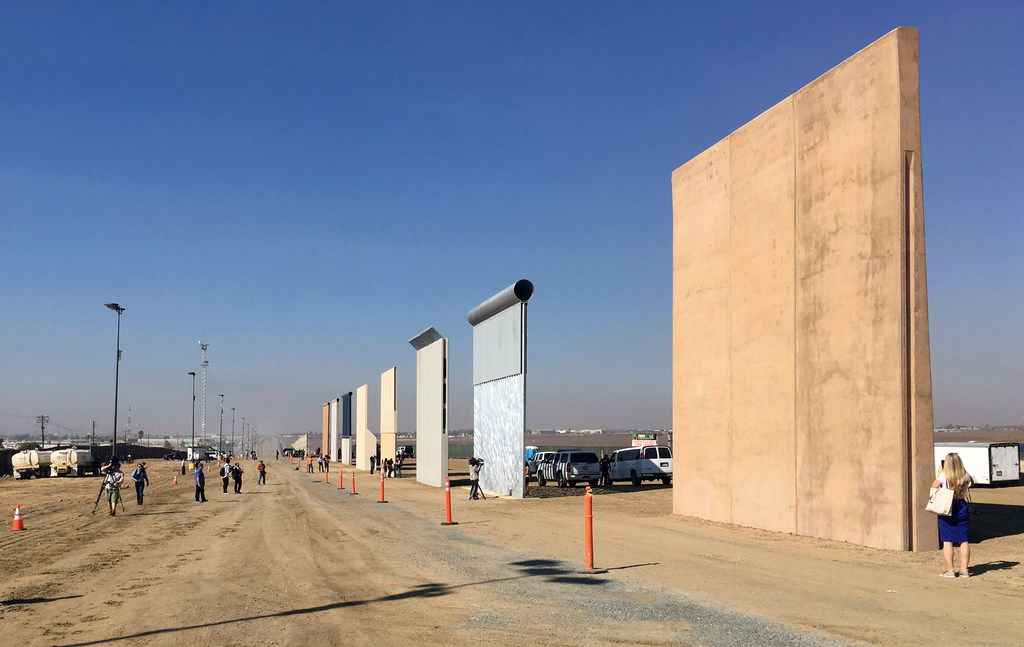 Contractors have completed eight prototypes of President Donald Trump's proposed border wall with Mexico, triggering a period of rigorous testing to determine whether they can repel sledgehammers, torches, pickaxes and battery-operated tools.