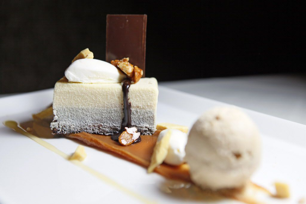Nutter Butter Crunch with peanut mousse, peanut gelato and honey roasted peanuts