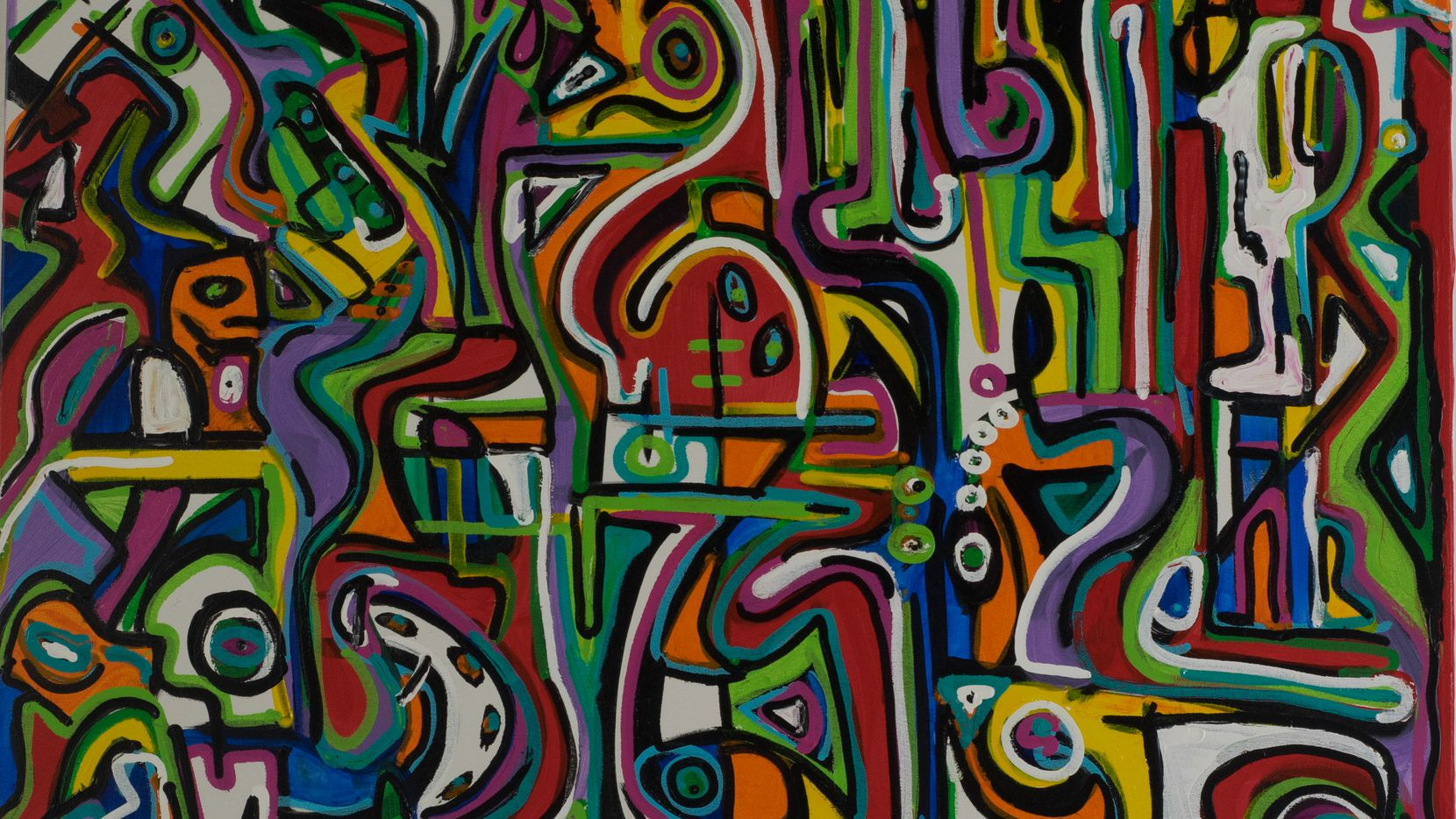 An untitled example of Preston Pannek's geometric painting style.