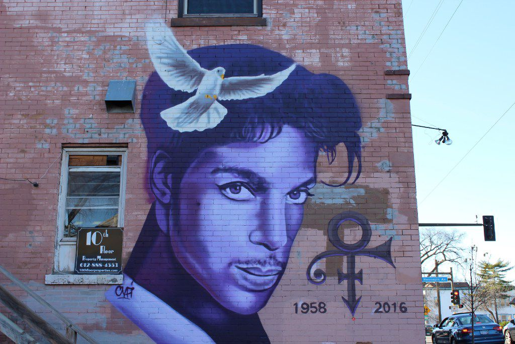 Visual odes to Prince have been popping up around Minneapolis. (Meet Minneapolis)