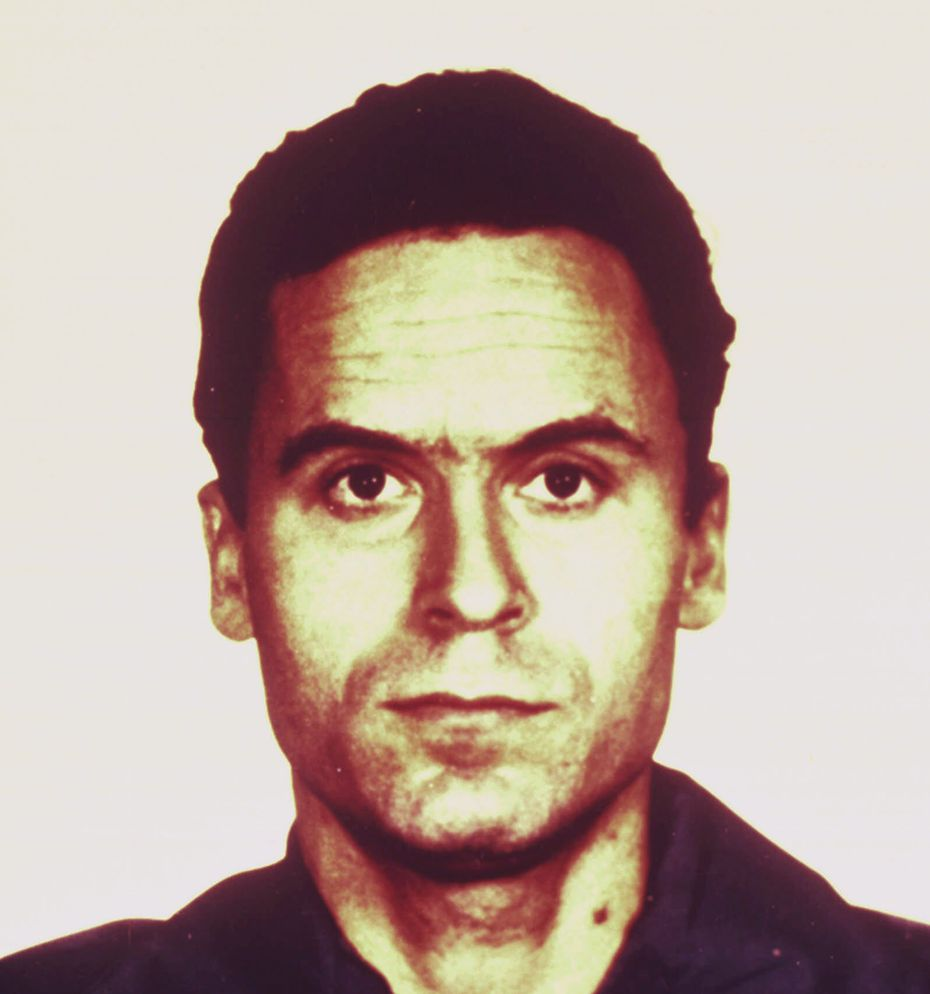"""A 1979 jail photo of convicted serial killer Theodore """"Ted"""" Bundy."""