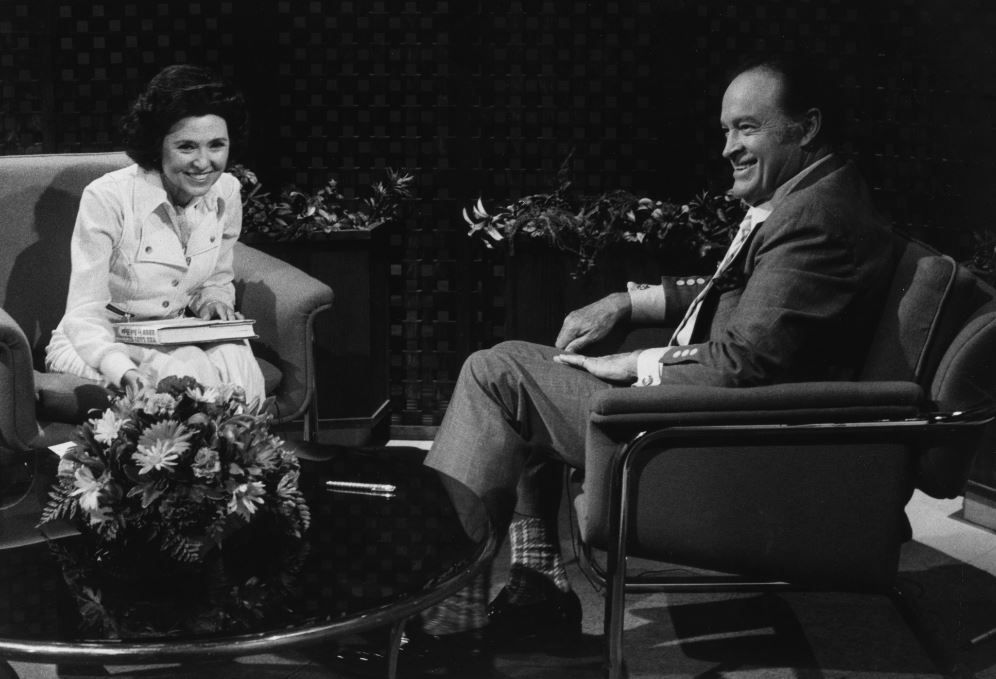 Wygant with Bob Hope in 1974.