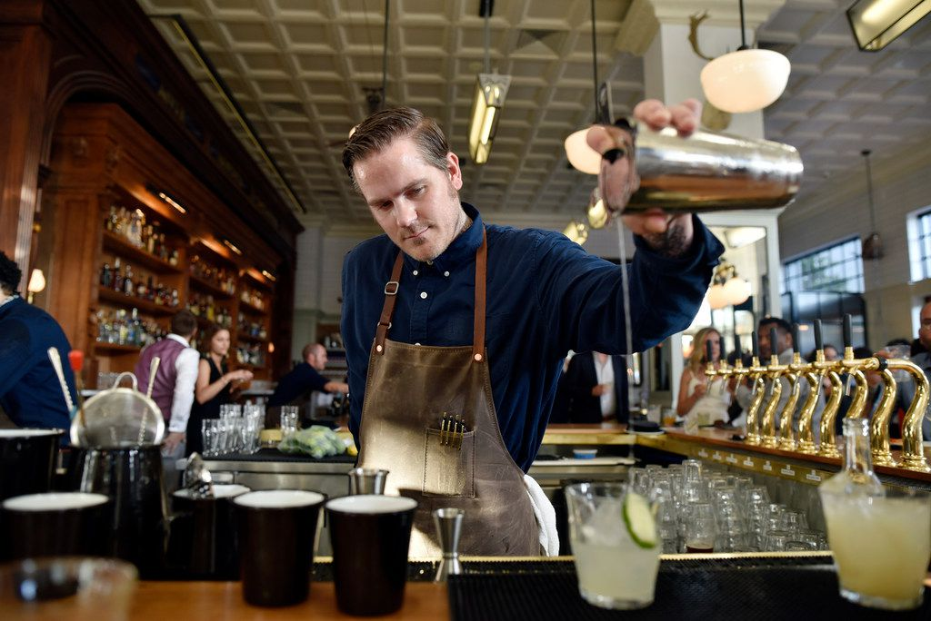 "Bar manager Zach Smigiel played college baseball, went to law school and got a job at the public defender's office in Dallas. But he didn't like it. So he started working in restaurants and fell in love with cocktails. At a bar, ""you can celebrate, you can mourn,"" he says. ""That environment really got me."""