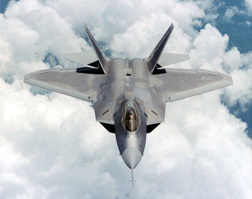An F-22 Raptor flies in this undated image provided by Lockheed Martin.