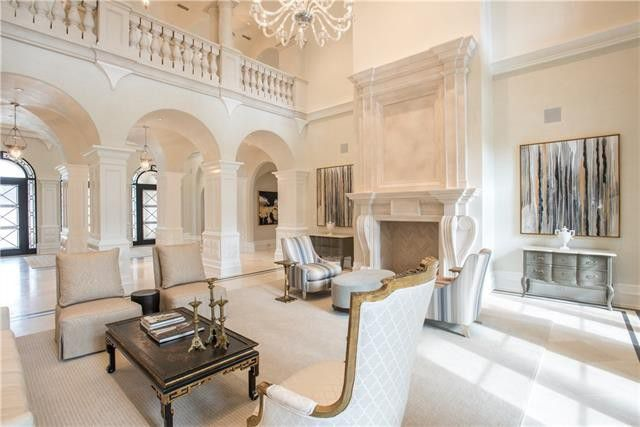 The Preston Hollow estate has 14,000 square feet and seven living areas.