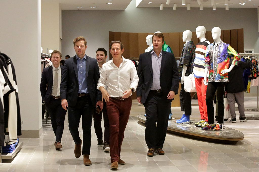 Visitors took in the men's department at Neiman Marcus on Friday.