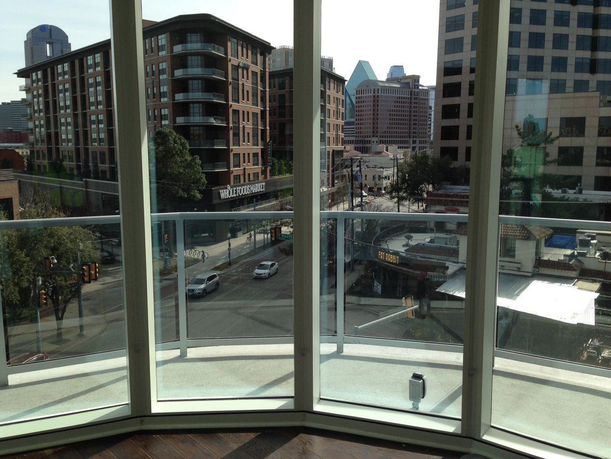 A view of McKinney Avenue from one of the lower-floor units. (Steve Brown/Staff)
