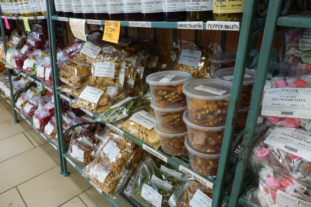 Grapevine Farmers Market carries custom-packed candies, vegetable chips and jams. The indoor market is open year-round.