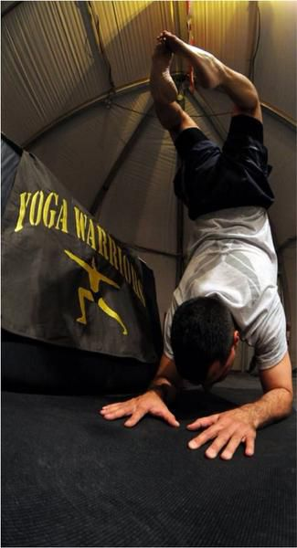 Jon Greuel partnered with organization Yoga Warriors to further learn how to do and teach yoga for people who have suffered Post-Traumatic Stress Syndrome or other trauma.
