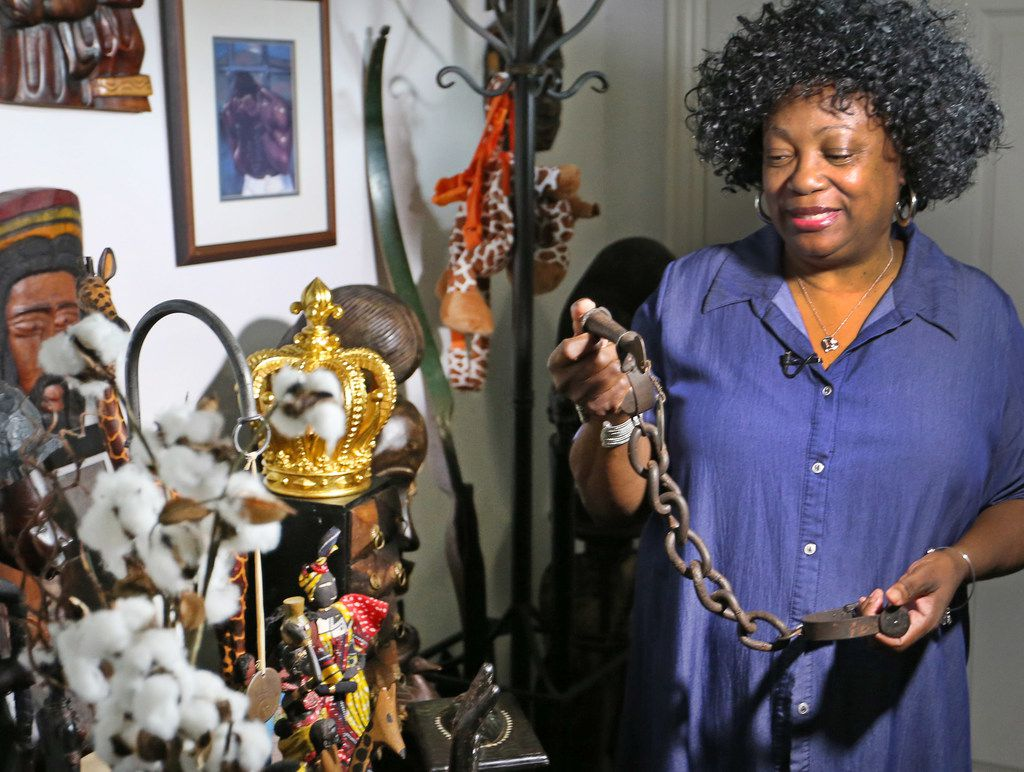 After Wanell House purchased the slave shackles from eBay, she struggled to look at them. They stayed under her bed for a year.