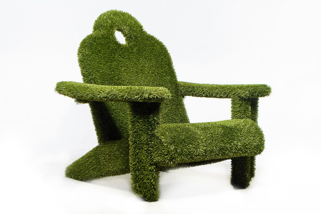 Adirondack Faux Grass Chair available through Mecox