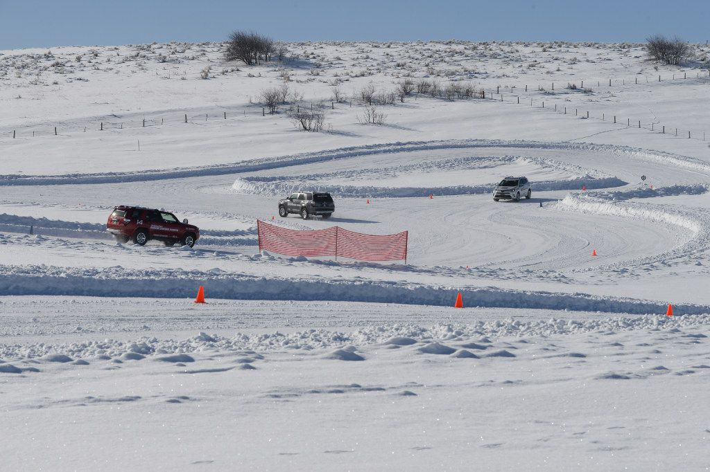 Lapping at the Bridgestone Winter Driving School in Steamboat Springs, Colo..