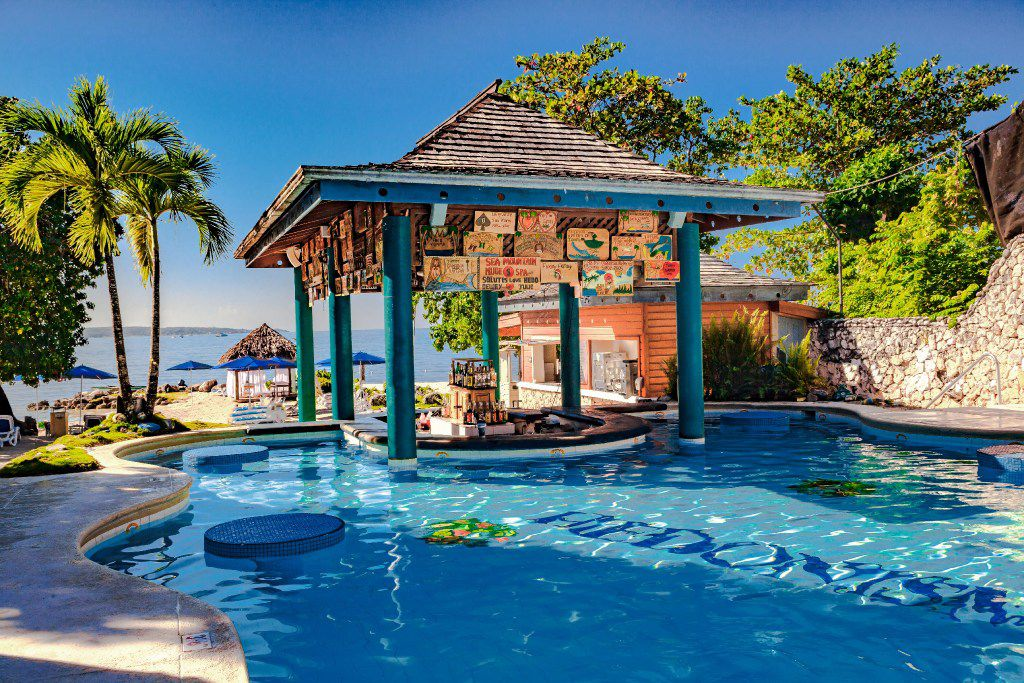 There are plenty of places to play at Hedonism II, a fun, recently renovated clothing-optional resort on Seven Mile Beach in Jamaica.