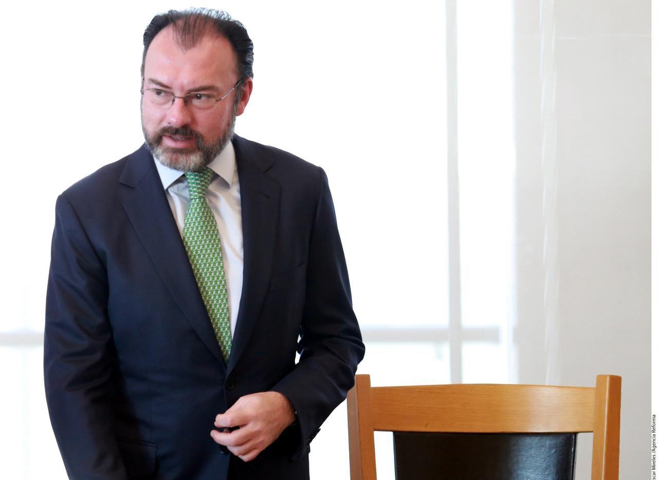Luis Videgaray, el Canciller de México el ocho de febrero del 2017 en la Ciudad de México. (AGENCIA REFORMA/ÓSCAR MIRELES)