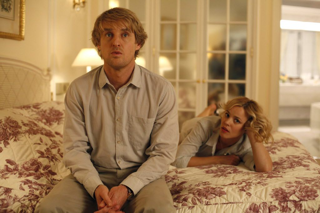 "Owen Wilson, left, and Rachel McAdams are shown in a scene from ""Midnight in Paris."