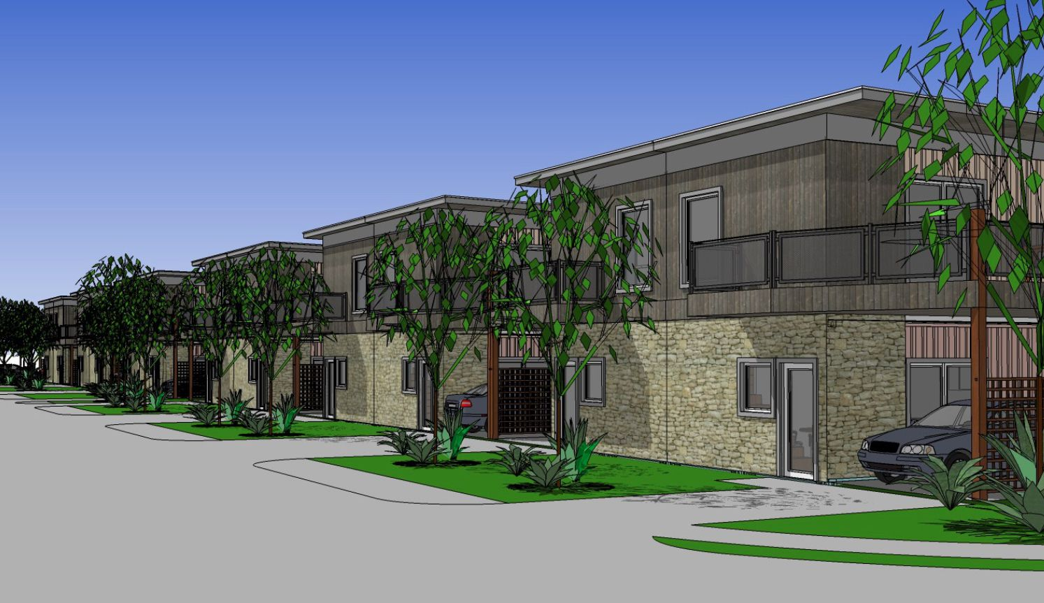 Habitat for Humanity's Cotton Groves project in McKinney will create affordable housing out of steel shipping containers.