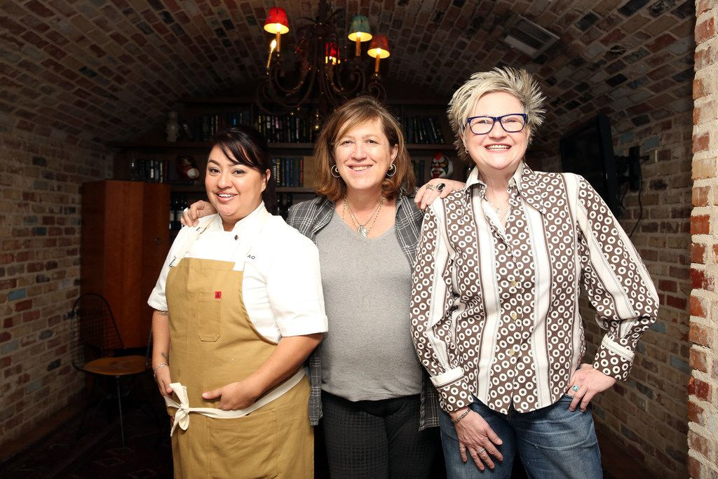 Cedars Social staff includes chef Anastacia Quinones (CQ) (left), owner Monica Greene (CQ) (middle), and bartender Leann Berry (CQ) (right), are known as the Ã'trifectaÓ, shown at the restaurant in Dallas, Texas, Saturday, February 3, 2018. (Allison Slomowitz/ Special Contributor)