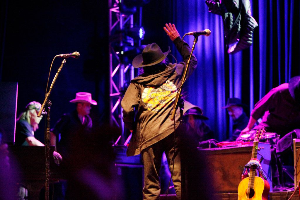 Willie Nelson tosses his jacket before performing at the Granada Theater in Dallas on Jan. 03, 2017. Ben Torres/Special Contributor