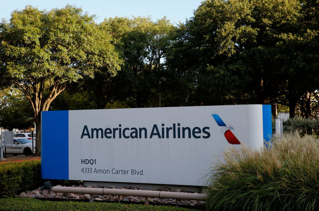 American Airlines headquarters in Fort Worth on Aug. 30, 2018. The union is calling attention to a number of their complaints, including uniforms, scheduling and sick leave policy.(Nathan Hunsinger/The Dallas Morning News)