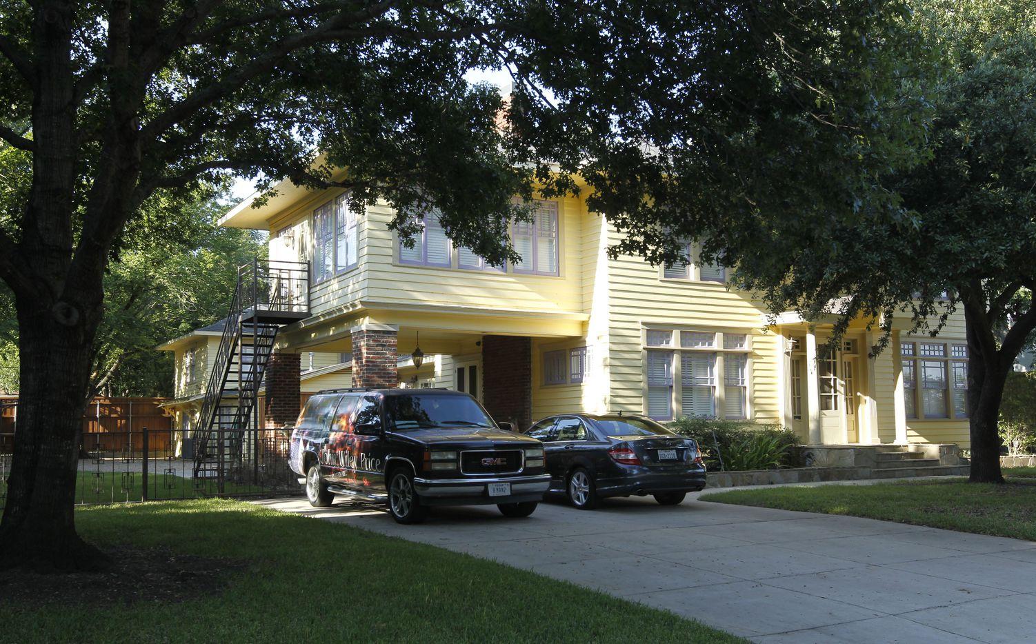 The home of Dallas County Commissioner John Wiley Price is in the Oak Cliff area of Dallas.