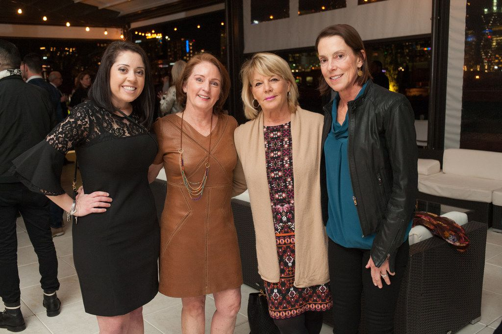 From left: Elizabeth Ferons, Nancy Wechsler, Kim Miner and Rebecca LaFavre  attended the Partners Card Announcement Party atop DEC on Dragon Jan. 25.
