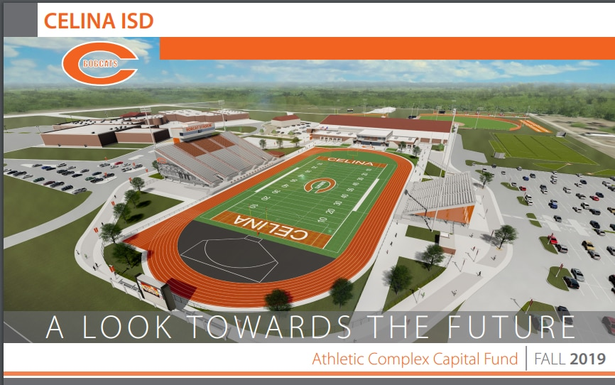 An overview of the plan for Celina ISD's new athletic complex, set to open in 2019. (Photo courtesy of Celina ISD)