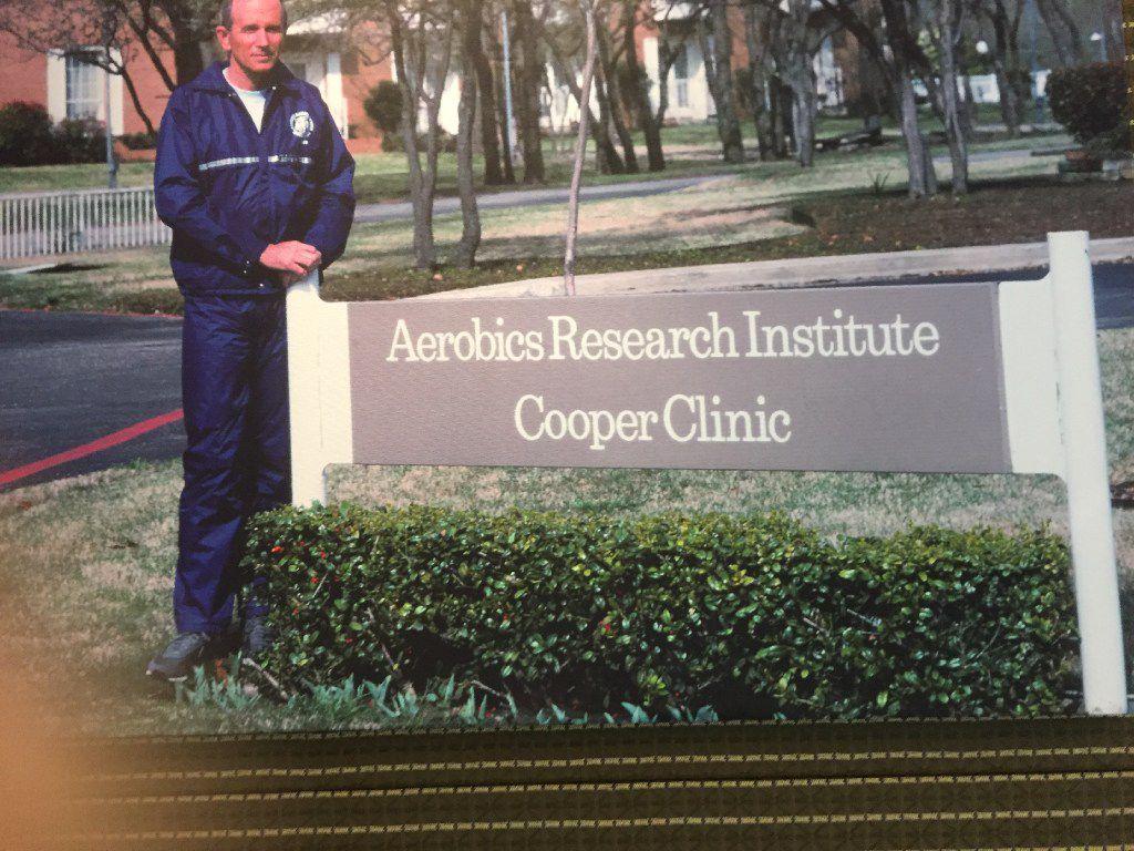 Ken Cooper at the Cooper Aerobics Center in 1980.