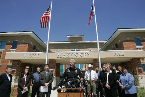 McKinney Police Chief Doug Kowalski addresses the media during a September 2006 press conference announcing the arret of Kosul Chanthakoummane in the fatal stabbing two months earlier of Sarah Anne Walker. Walker, a real estate agent, was killed on July 8, 2006 in a model home in McKinney's Craig Ranch development.