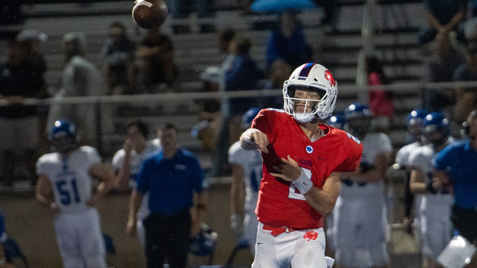 Parish Episcopal quarterback Preston Stone is one of the top-rated quarterbacks in the country for the Class of 2021. His presence at the North Dallas school has led to an increase in attention for his teammates. (Wiley Williams/Parish Episcopal)