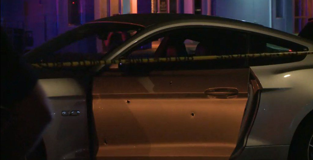 Officers were called to the southbound service road of U.S. Highway 287 near Village Creek Road about 10:15 p.m. after the victim reported that he had been shot.