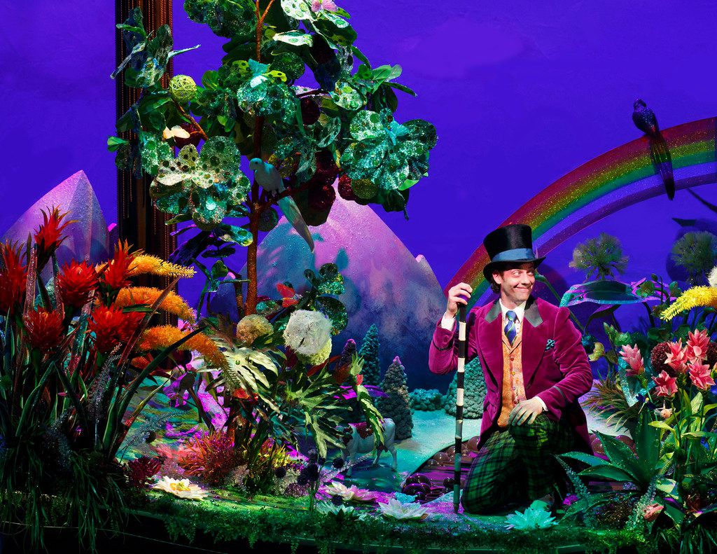 Christian Borle as Willy Wonka in Roald Dahl's  Charlie and the Chocolate Factory,  shown in a 2017 production in New York, N.Y. Charlie and the Chocolate Factory is part of the AT&T Performing Arts Center's six-show 2018-19 Broadway Series.