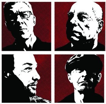 Album art for The Low Side of Uptown, featuring portraits of each Toadies member, was designed by acclaimed comic Michael Lark (Daredevil, Captain America).