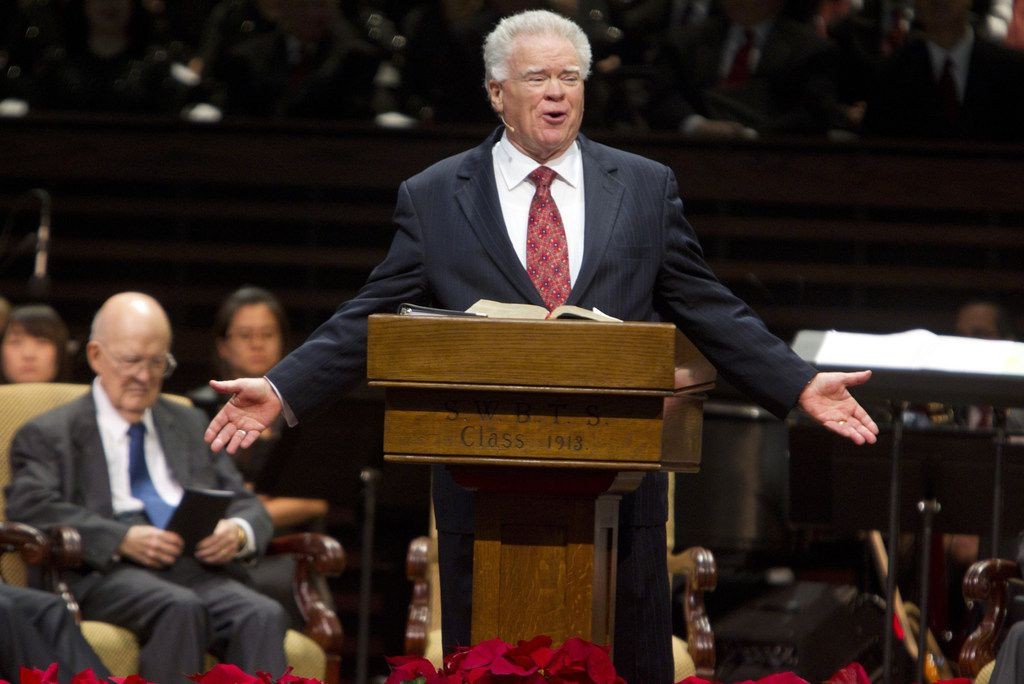 Paige Patterson delivers a speech in December 2011.