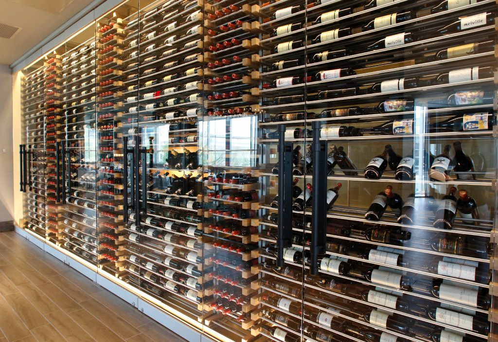 Del Frisco's Double Eagle Steak House will open its new location in Plano on May 3, 2017. The Eagle's Nest bar is on the second floor. They have over 9,000 bottles of wine in stock for their customers. Photo taken on Friday, April 28, 2017. (David Woo/The Dallas Morning News)