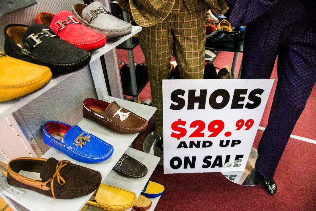 Shoes and other menswear are on sale at Fino in Southwest Center Mall, which will undergo major renovations and be renamed Redbird Mall.